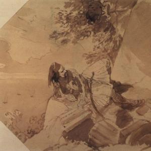 Грек, лежащий на скале. (1835)