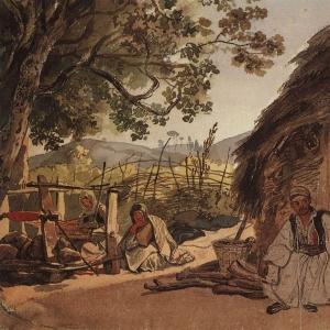 Греческое утро в Мираке. 1835