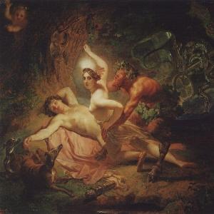 Диана, Эндимион и Сатир. 1849