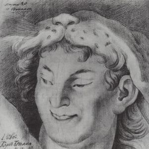 Голова Вакха (копия с оригинала). 1811