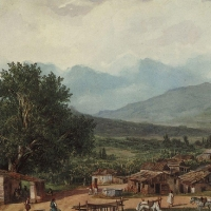 Деревня св.Рокка близ города Корфу. 1835