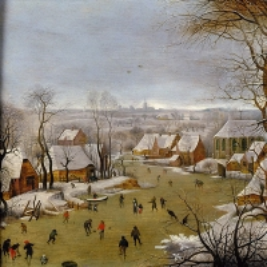 Зимний пейзаж с бегством в Египет (1602)