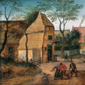 Жена уводит пьяного мужа из таверны (1632)