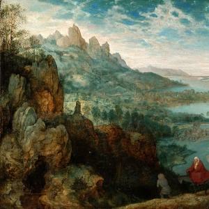 Пейзаж с бегством в Египет (1563)