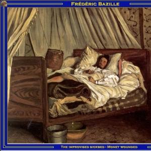 Жан Фредерик Базиль - Импровизированная постель страдальца - раненый Моне
