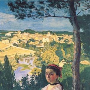 Жан Фредерик Базиль - Вид на деревню
