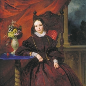 Портрет Ольги Владимировны Басиной, жены художника. Между 1838 и 1841