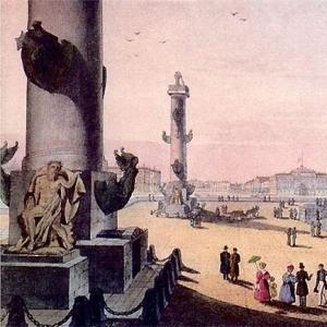 Здание Биржи и ростральные колонны
