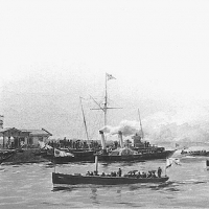 Императорские катера в Петергофской гавани