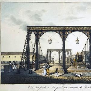 Вид Цепного Пантелеймоновского моста через Фонтанку