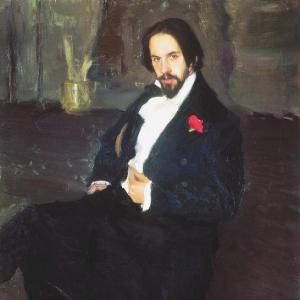 Кустодиев Б. Портрет художника Ивана Билибина, 1901