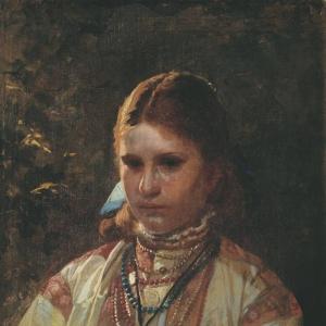 Бобров Виктор Алексеевич - Крестьянская девушка 1880