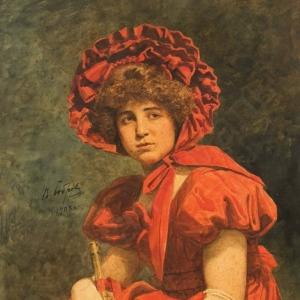 Бобров Виктор Алексеевич - «В красном наряде». 1903
