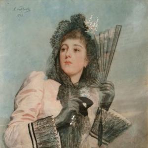 Бобров Виктор Алексеевич - Дама с веером
