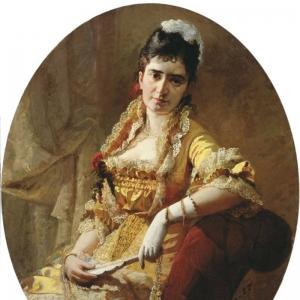 Портрет певицы Е.А. Лавровской 1881