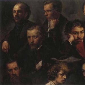 Максимов Василий Максимович (автопортрет и портреты товарищей, 1864)