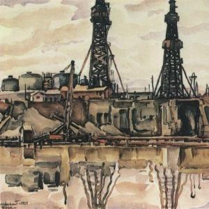 Баку. Нефтевышки. 1931