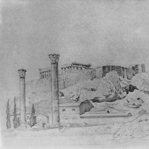 Вид древнегреческого Акрополя. 1909