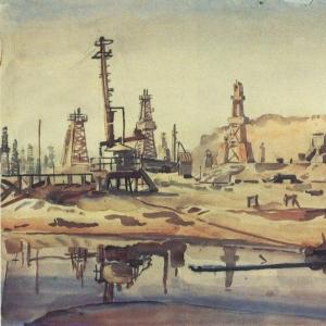 Бакинские нефтяные промыслы. 1930-е