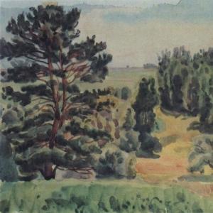 Вид окрестностей Тарусы. 1930-е