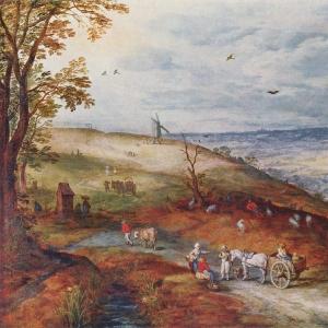 Пейзаж с ветряной мельницей