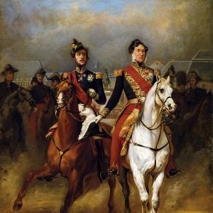 Эмиль-Жан-Орас Верне - Луи-Филипп и герцог Орлеанский в Версале