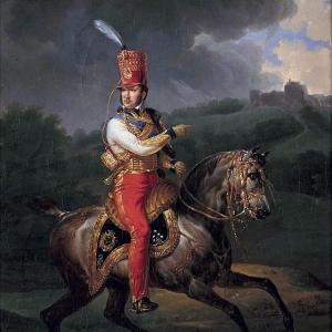Эмиль-Жан-Орас Верне - Конный портрет Луи-Филиппа (1747-1793), будущего герцога Орлеанского, в мундире генерал-полковника гусар