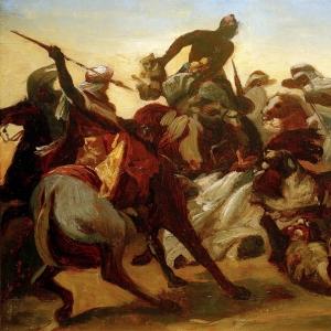 Эмиль-Жан-Орас Верне - Львиная охота