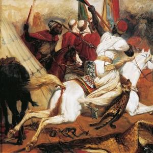 Эмиль-Жан-Орас Верне - Битва у реки Исли 14 августа 1844 года (этюд)