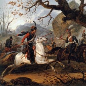 Эмиль-Жан-Орас Верне - Наполеоновское сражение в Альпах