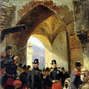 Эмиль-Жан-Орас Верне - Вход герцога Немурского в Константину 15 октября 1837 года