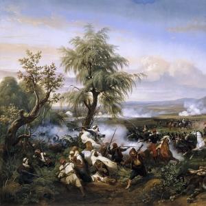 Эмиль-Жан-Орас Верне - Битва при Габре, Алжир, декабрь 1835