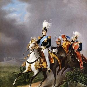 Эмиль-Жан-Орас Верне - Конный портрет Наполеона II