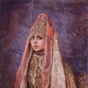 Боярышня (Портрет В.С.Мамонтовой)