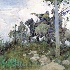 Богатыри на конях