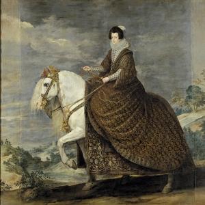 Конный портрет королевы Изабеллы де Бурбон, супруги Филиппа IV