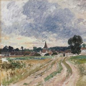 Альфред Валберг - Сельская церковь. Этюд