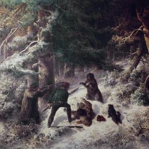 Альфред Валберг - Зимняя охота на медведя