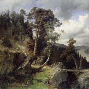 Альфред Валберг - Шведский пейзаж. Мотив из Колмордена