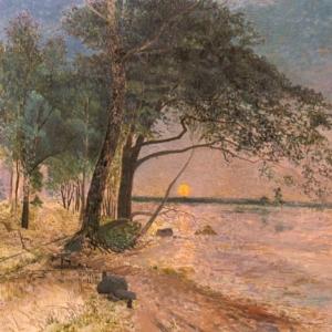 Альфред Валберг - Вид на замок Кроненберг на закате