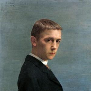 Валлоттон Феликс - Автопортрет в 20 лет