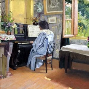 Валлоттон Феликс - Дама за пианино