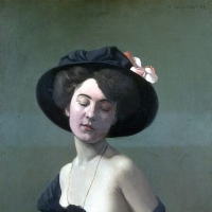 Валлоттон Феликс - Женщина в черной шляпе