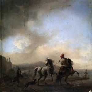Воуверман Филипс - Лошадь, испуганная собакой