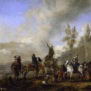 Воуверман Филипс - Выезд на соколиную охоту