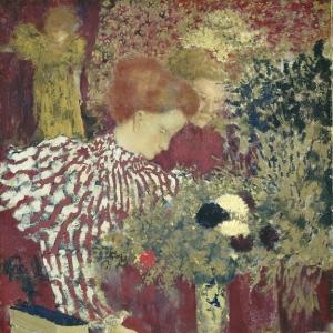 Эдуард Вюйяр - Женщина в полосатом платье