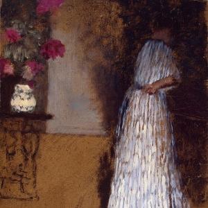 Эдуард Вюйяр - Молодая женщина в комнате