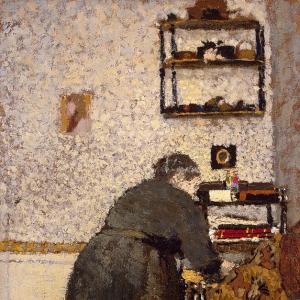 Эдуард Вюйяр - Старая женщина в интерьере