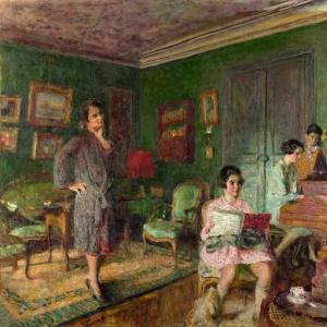 Эдуард Вюйяр - Мадам Андре Вормсер с детьми