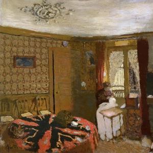 Эдуард Вюйяр - Мадам Вюйар шьёт у окна на улицу Трюффо
